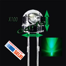 100X Diodo LED 5x5 mm Verde 2 Pin alta luminosidad