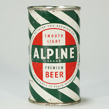 Alpine Beer Barber Stripe Flat Top Beer Can Peter Fox Brewing Chicago IL 30-2