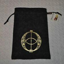 Chalice well vesica pisces glastonbury sacred geometry black tarot dice rune bag