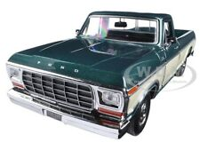 1979 FORD F-150 PICKUP TRUCK GREEN/CREAM 1/24 DIECAST MODEL CAR MOTORMAX 79346
