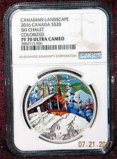 2016 CANADA $20 CANADIAN LANDSCAPE: SKI CHALET SILVER COIN  NGC PF70 ULTRA CAMEO