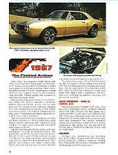 1967 Pontiac Firebird Article + VIN Decode - Must See !!