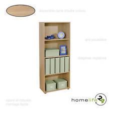 Très belle étagère simple avec 4 niveaux Sonoma chêne pour le rangement