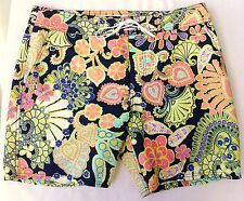 4ee7b91cae MR TURK 'Malibu' Men's Paisley / Floral Swim Trunks / Board Shorts 32