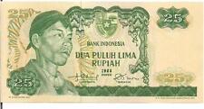 INDONESIA, 25  RUPIAH, GENERAL SUDIMAN @ L, 1968,UNC