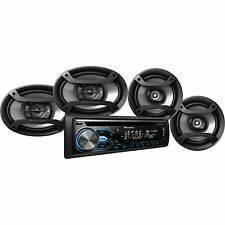 "Pioneer DXT-X4969BT CD Player Bluetooth Receiver + 6.5"" & 6""x9"" Speakers Package"