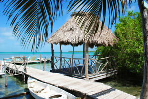 Reprint For BELIZE BEACH LANDSCAPE POSTER Art Fabric HD Painting Wall Decor