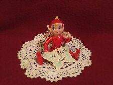 """Vintage Ceramic Kreiss """"I'm A Little Geni"""" Figurine 1957"""