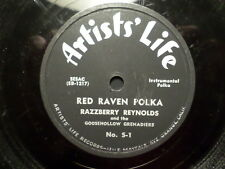 ARTISTS LIFE 78 RECORD/RAZZBERRY REYNOLDS/VIENNA FOREVER/RED RAVEN POLKA/ VG +