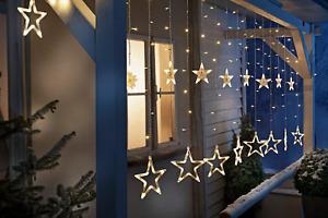 LED-Lichtervorhang Sternen Lichterkette  5 Meter Balkon Weihnachtsbeleuchtung