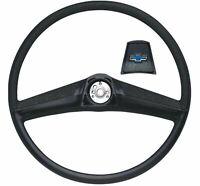 OER Black Steering Wheel With Bow Tie Horn Cap 1969-1972 Chevy Pickup Truck