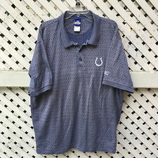 Indianapolis Colts Polo Shirt by Reebok Men's XL 100% Cotton