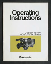 PANASONIC VW-555BN VIDEO CAMERA INSTRUCTIONS MANUAL
