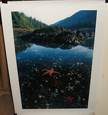 RAYMOND GEHMAN HUGE HAND SIGNED PHOTOGRAPH SEASCAPE POSTER