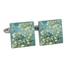 Van Gogh Almond Blossoms Cufflinks Gift Boxed flower trees painting NEW