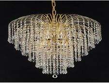 "Palace Lexington 25"" 6 light Crystal Chandelier Light Gold Ceiling Light"