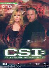 CSI. Crime Scene Investigation. Stagione 6. Vol. 1 (2005) Cofanetto 3 DVD NUOVO