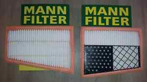 SET OF 2 MANN FILTERS AIR FILTER MERCEDES ML 320CDI 320 CDI 2005-2009 OE QUALITY