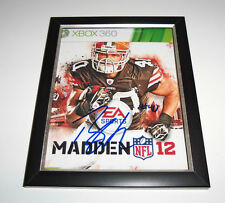 f2e1f7751b5 Cleveland Browns #40 PEYTON HILLIS Signed FRAMED Photo COA! MADDEN COVER!