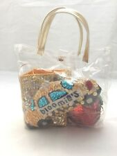 Bloomie's Ornaments Taxi Cab, Bag & Apple In Tote China