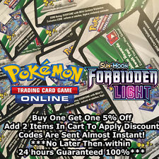 50x Sun & Moon Forbidden Light Pokemon TCGO PTCGO TCG Online Codes Cards Fast!