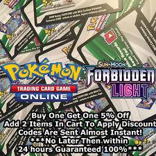 50x Sun & Moon Forbidden Light Pokemon TCGO PTCGO TCG Online Codes Cards Fast!