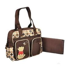 Diaper Bag Large Multi Compartment Pooh & Bees Brown Yellow NWT