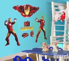 Large Super Iron Man Hero The Avengers Wall Sticker Wall Decal Home Decor USA