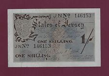 JERSEY 1 Shilling 1941 - 42 P-2 UNC-  scarce banknote UK Great Britain