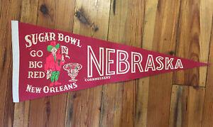 VIntage Nebraska Cornhuskers College Sugar Bowl Pennant Go Big Red