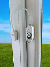 ERA 723 UPVC Window Tested White Cable Restrictor Child Safety Security Locking