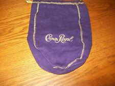 Crown Royal Purple Bottle Bag Gold String Closure