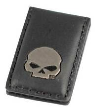 Stainless Steel Skull /& Crossbones Kiss of Death Money Clip Credit Card Holder