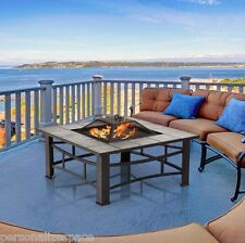 Ceramic Tile Fire Pit with Grill BBQ Pit Table  Fireplace Outdoor Heaters fire