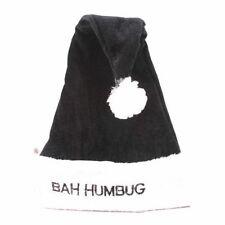 Noël de luxe Bah bétise Santa CHAPEAU Scrooge bureau fête Super noir et blanc
