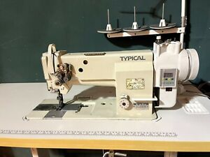 """TYPICAL TWO, DOUBLE / TWIN NEEDLE 1/4"""" WALKING FOOT INDUSTRIAL SEWING MACHINE"""