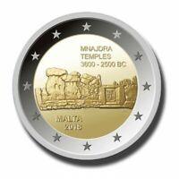MALTA Mnajdra Temples - 2 Euro Commemorative Coin - 2018 Issue UNC - RARE