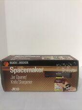 Black & Decker Spacemaker Jar Opener Knife Sharpener Black Jk1D