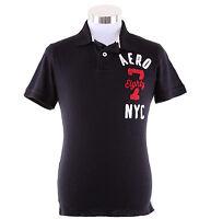 Aeropostale Men Short Sleeve AERO87 Graphic Jersey Polo Shirt Style 5050 $0 Ship