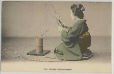 Japan Geisha The Flower Arrangement on c. 1905 Vintage Postcard