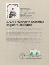 #7609 9c Freedom to Assemble #1616 Souvenir Page