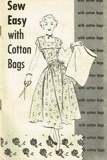 1940s Vintage Sewing Feedsack Pattern Booklet Sew Easy with Cotton Bags