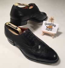 Mens Trickers Goodyear Welted Black Brogue Shoes Size UK 9.5 MADE IN ENGLAND
