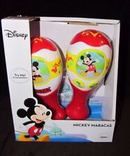Disney Mickey Mouse Maracas Musical Plays 2 Songs Clubhouse Theme & Hot Dog NEW