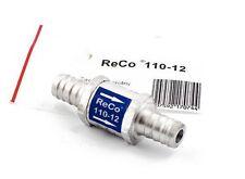 RECO Rückschlagventil ALU 12mm Benzin Diesel Pflanzenöl Druckluft