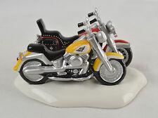 Original Snow Village Harley-Davidson Motorcyles FatBoy Softail Dept 56 #54900