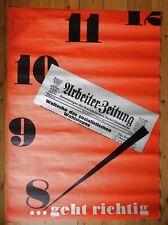 Original Plakat, Hans Fabigan, Arbeiter Zeitung - .geht richtig, Vorwärts Verlag