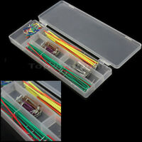 DIY 140 Pcs Jumper Wire Cable Set For Solderless Breadboard PCB Test Board New