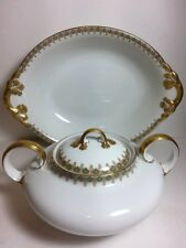 Antique Limoges France W M. Guerin & Co William Guerin Cover Dish Serving Bowl