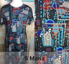 Lularoe Maria Dress~ Small~S~NWT~Slinky Material~ Abstract Print~FAST Shipping